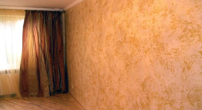 Особенности отделки декоративной краской для стен