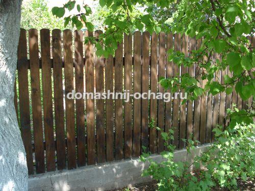 Виды деревянных заборов: забор своими руками