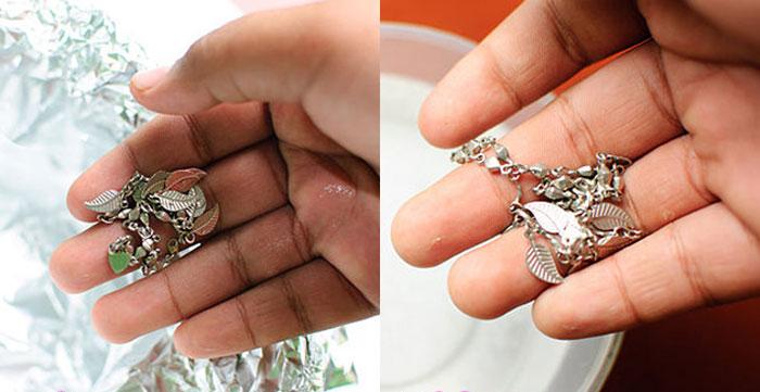 Как почистить серебряные серьги