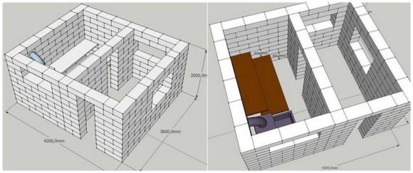 Как построить баню из пеноблоков своими руками; пошаговая инструкция, чертежи и видео