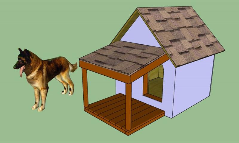 Как сделать утепленную будку для собаки своими руками