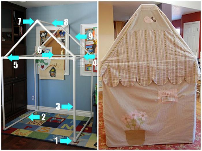 Как сделать детский домик своими руками: из дерева и других материалов. Чертежи с размерами   (80 Фото Идей; Видео)