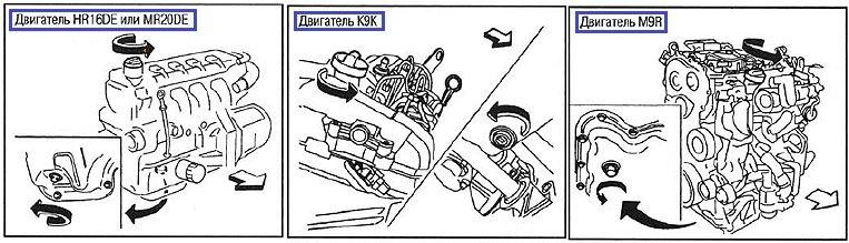 Замена масла в двигателе Ниссан Кашкай 1. 6