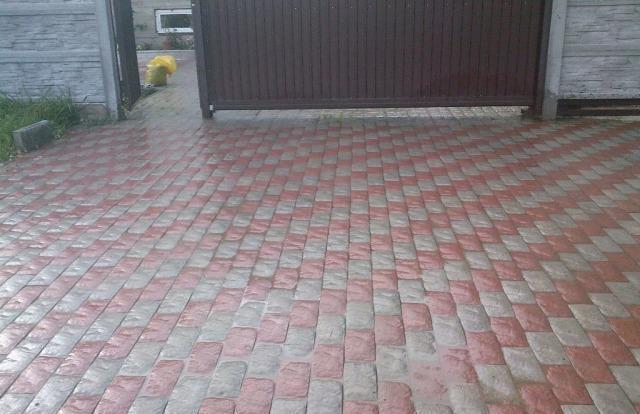 Тротуарная плитка во дворе частного дома; 20 фото