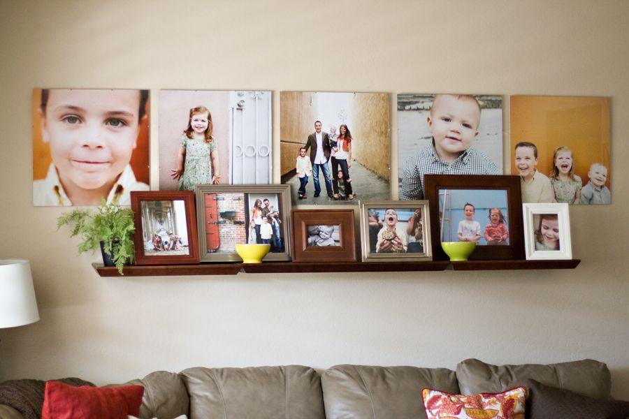 Оформление стены фотографиями: яркие мгновенья жизни в интерьере