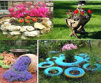 Как украсить садовый участок красиво и не дорого