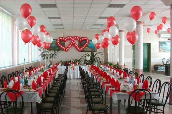 Как украсить зал на свадьбу своими руками — фото с этапами