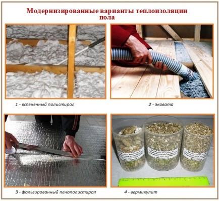 Как можно утеплить пол в частном доме и какие материалы использовать