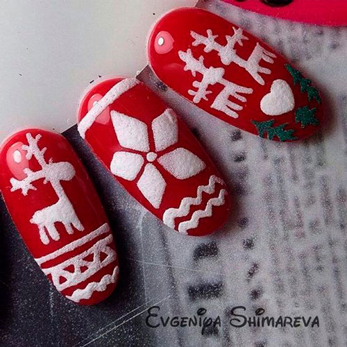 Дизайн ногтей с красным гель лаком: 80 фото