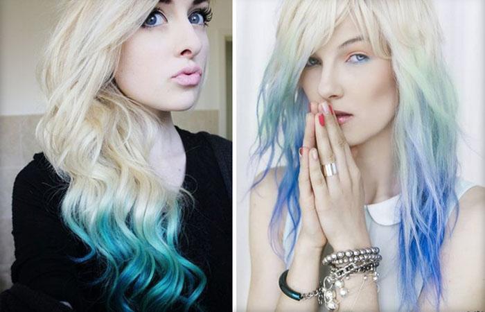 Кому подходят неординарные синие волосы и как получить желаемый оттенок