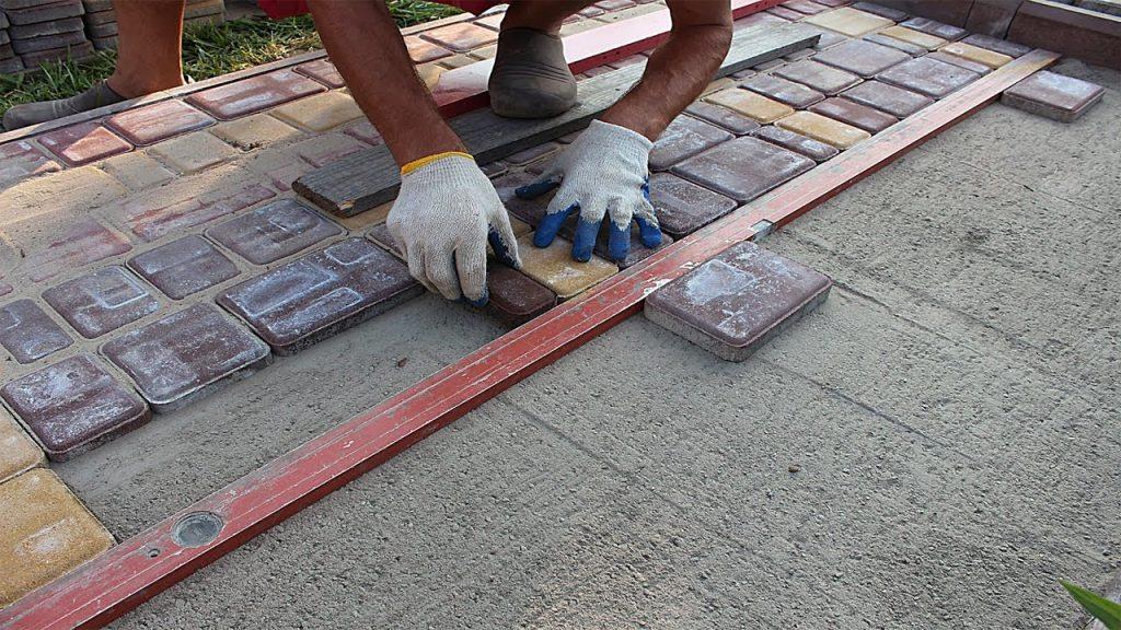 Современная технология укладки тротуарной плитки