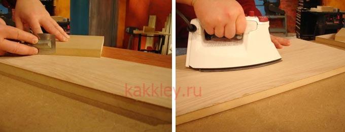 Как клеить шпон в домашних условиях; фото и видео инструкция