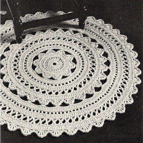 Ковры, вязаные крючком из шнура