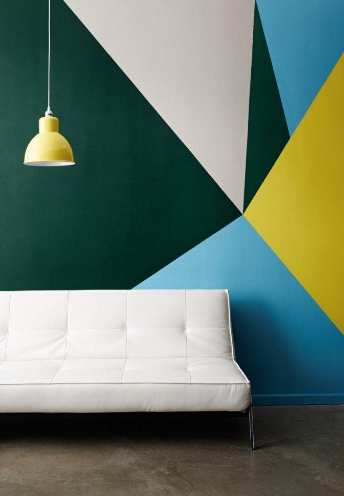 Покраска стен водоэмульсионной краской сочетания цветов