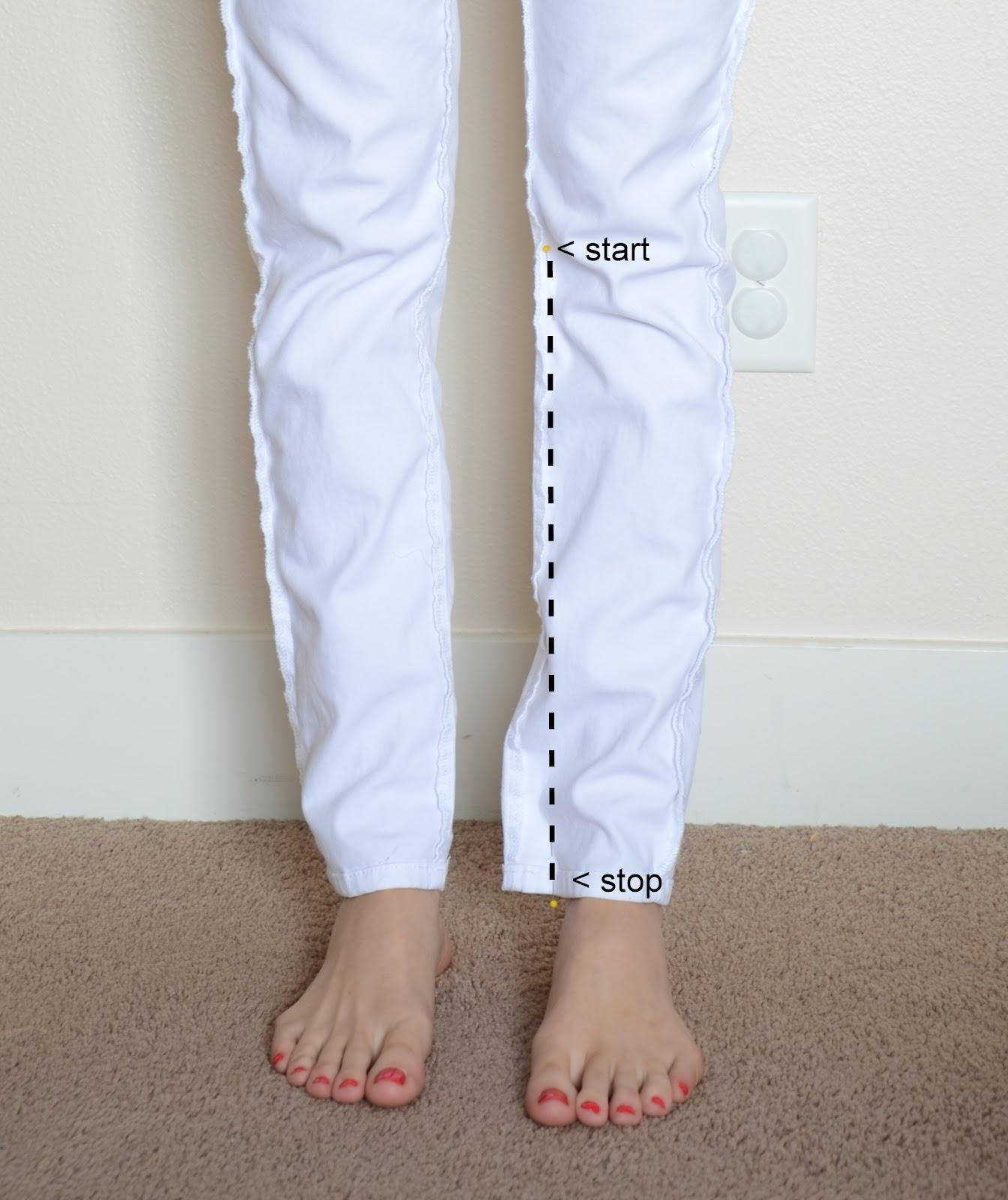 Как ушить джинсы по боковым швам своими руками