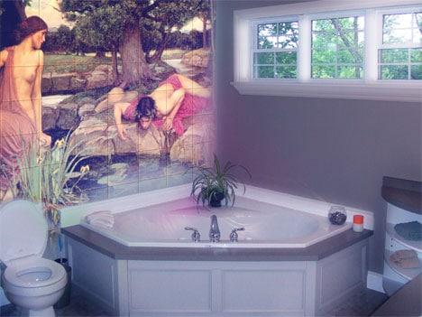Как сделать рисунки на стенах в ванной: мастер класс с фото