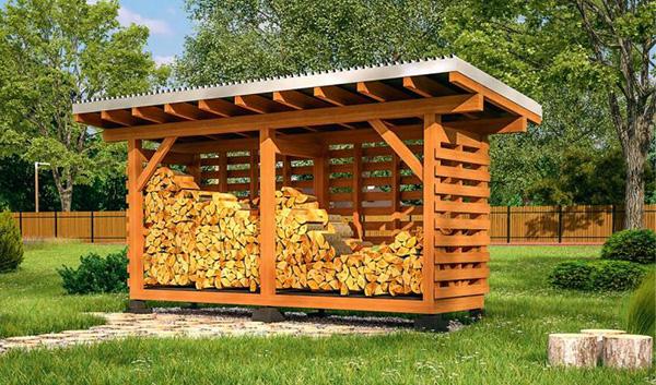 Очень полезная постройка на дачном участке: строительство дровяника из поддонов