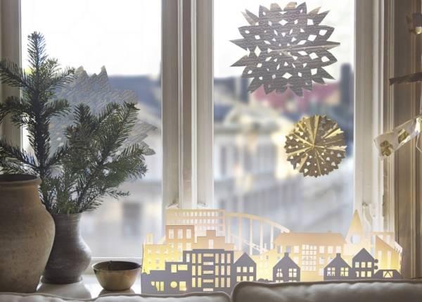 Как украсить окно на; Новый Год 2019; 5 способов и; 30 фото