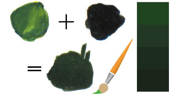 Как получить зеленый цвет, смешивая краски