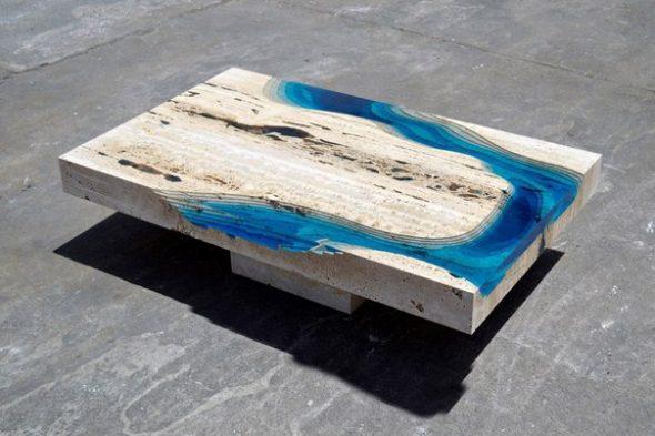 Как сделать стол из эпоксидной смолы: особенности конструкции и изготовления