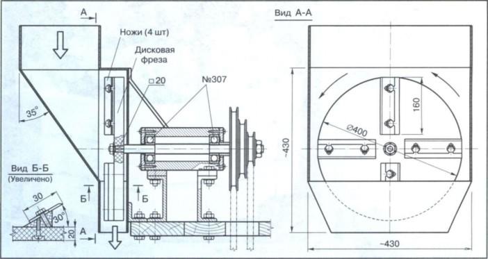 Как сделать садовый измельчитель веток своими руками; инструкция с чертежами и фото