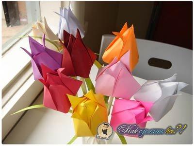 Как делать тюльпаны из бумаги своими руками — идеи с фото