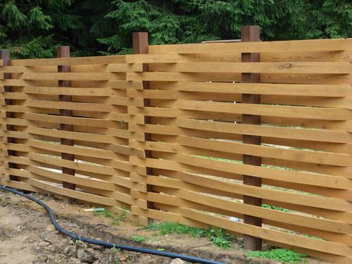 Забор своими руками из профнастила и дерева