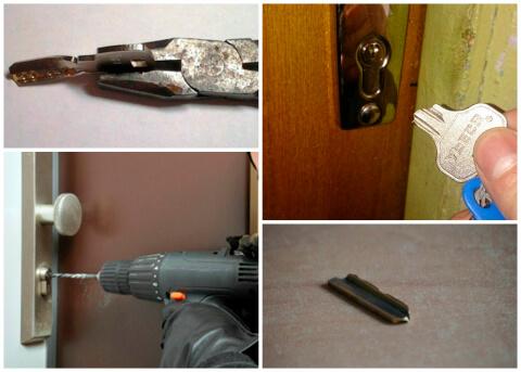 Что делать если ключ сломался в замке, как его достать