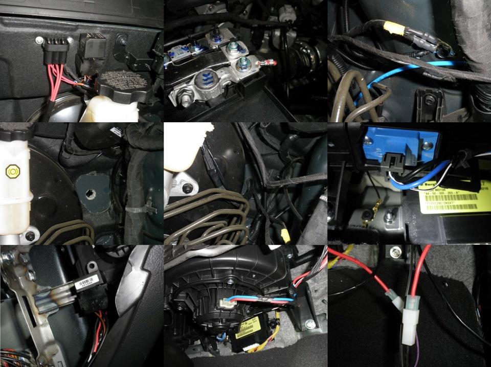 Avtovariant › Blog › Инструкция, схема установки Eberspacher Hydronic D5W SС (Эберспехер Гидроник) на Hyundai Santa Fe (Хендай Санта Фе)