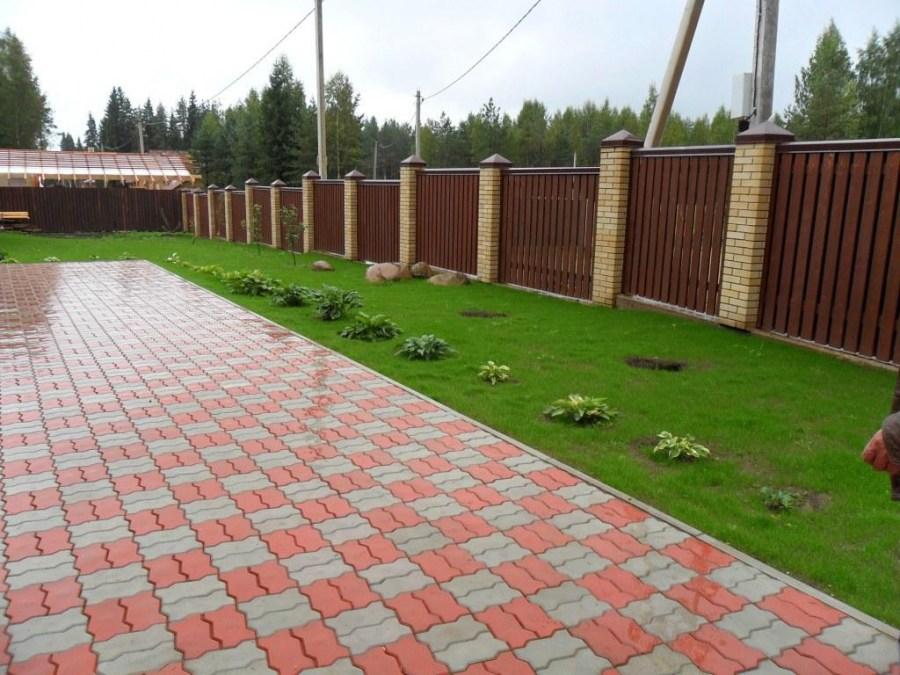 Укладка тротуарной плитки: подготовка основания и мощение своими руками (85 фото)