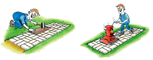 Технология укладки тротуарной плитки в домашних условиях