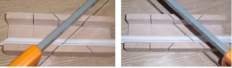 Как резать потолочный плинтус: учимся делать правильные углы