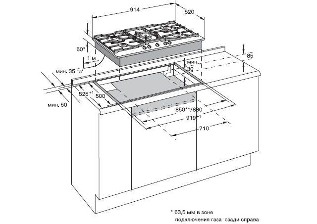 Посудомойка под варочной панелью