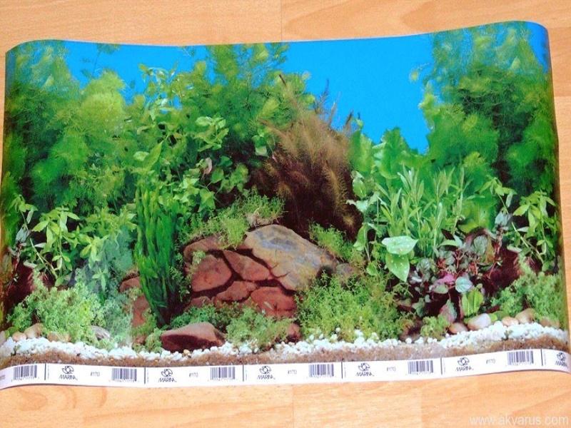 Как приклеить фон на аквариум