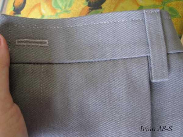 Как пришить пояс к брюкам мастер класс