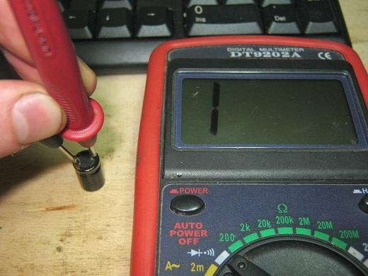 Как проверить конденсатор мультиметром