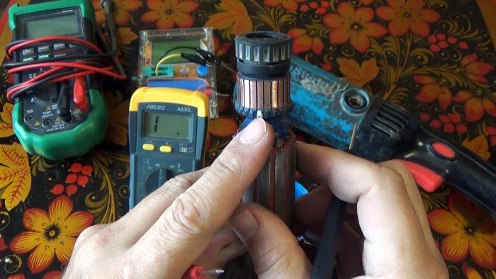Как мультиметром выполнить полную проверку ротора и статора на примере болгарки
