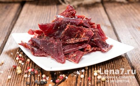 Вяленое мясо из свинины