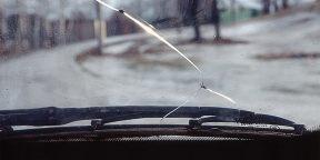 Как заклеить трещину на стекле