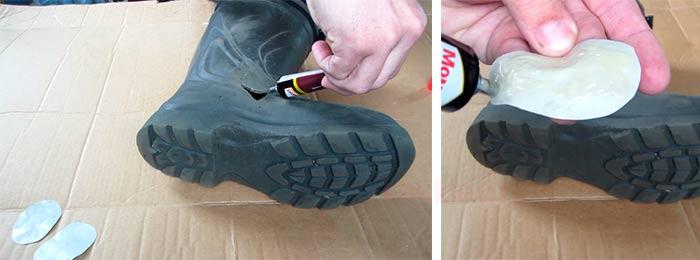 Как заклеить резиновые сапоги из ПВХ или Эва в домашних условиях