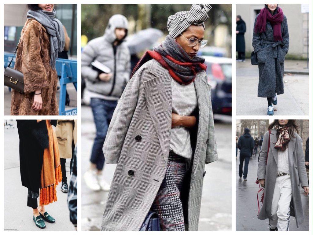 Как красиво носить шарф с пальто: ТОП стильных образов