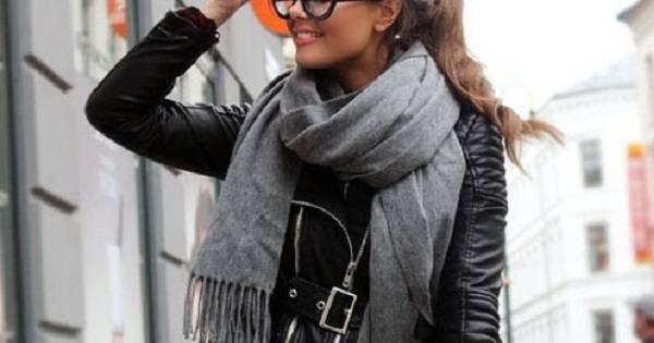 Как завязывать шарф на пальто; шесть актуальных вариантов