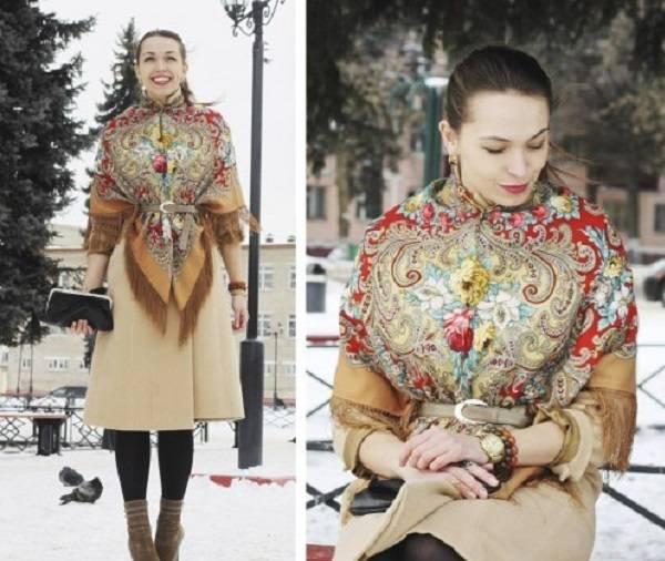 Как завязать платок на пальто; несколько универсальных вариантов