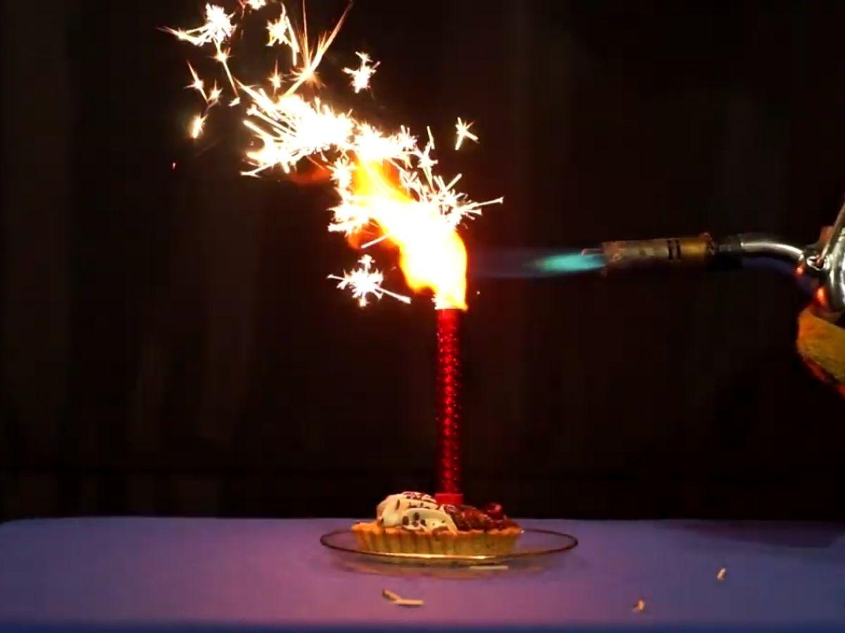 Свечи-фонтан для торта: как эффектно зажечь, не создав сплав торта с потолком