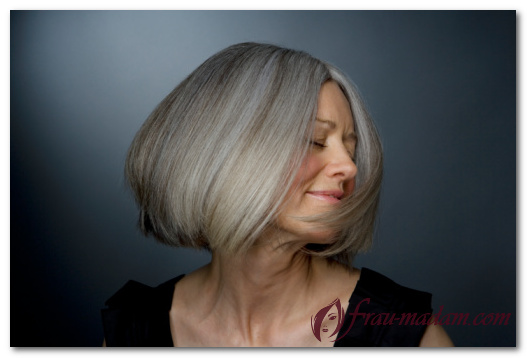 Окрашивание седых волос профессиональными, качественными и натуральными красками