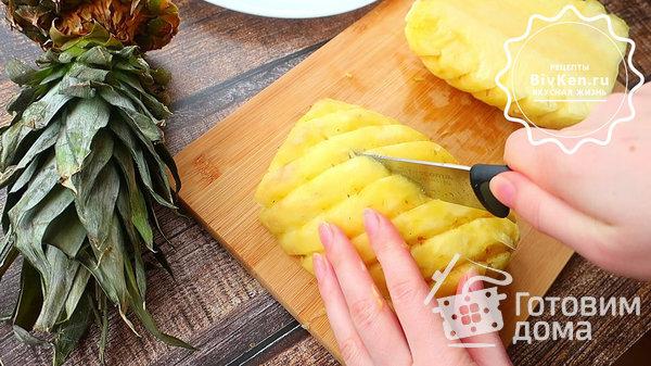 Как красиво нарезать ананас на праздничный стол