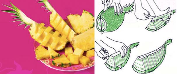 4 способа почистить, нарезать и подать ананас