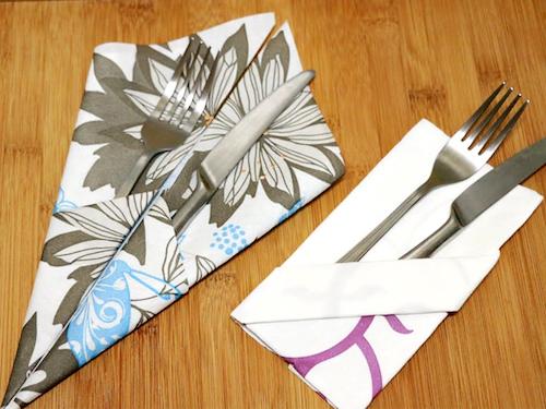 Как красиво сложить бумажные салфетки на праздничный стол