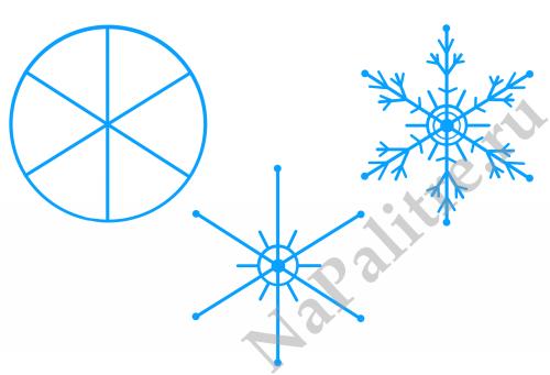Новогодние снежинки: Три разных варианта