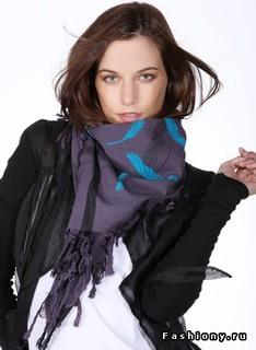 Оригинальные и нескучные способы завязывать платки, шарфы, палантины ( ВИДЕО)